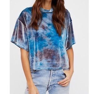 Free People We The Free Need You Velvet Tee Blue